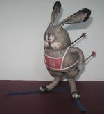 Зайчонок на лыжах