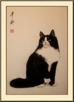 Кошка позирующая